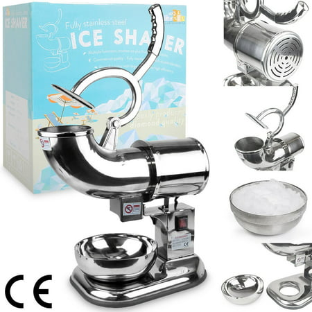 WYZworks Commercial Heavy Duty 440lb/h Sno Snow Cone Ice Shaver Shaved Icee Maker Machine Stainless (Sno Snow Cone)