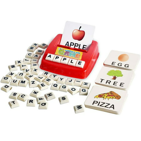 NK English Matching Letter Game, Teaches Word Recognition, Spelling & Increases Memory, 3 Years & Up Games That Teach Carpet