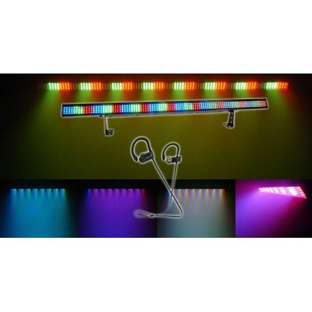 Chauvet COLORSTRIP 4-Ch DMX LED Multi-Color DJ Light Bar Color Strip+ Earbuds