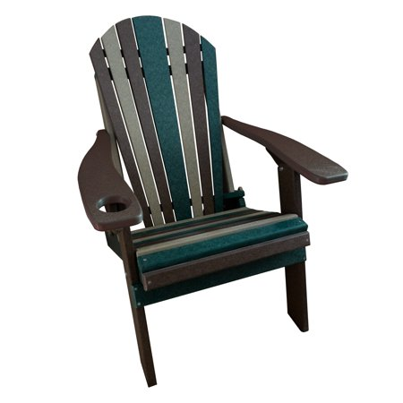 Furniture Barn USA® Camo Style Folding Poly Fanback Adirondack Chair - 1 Cup Holder ()
