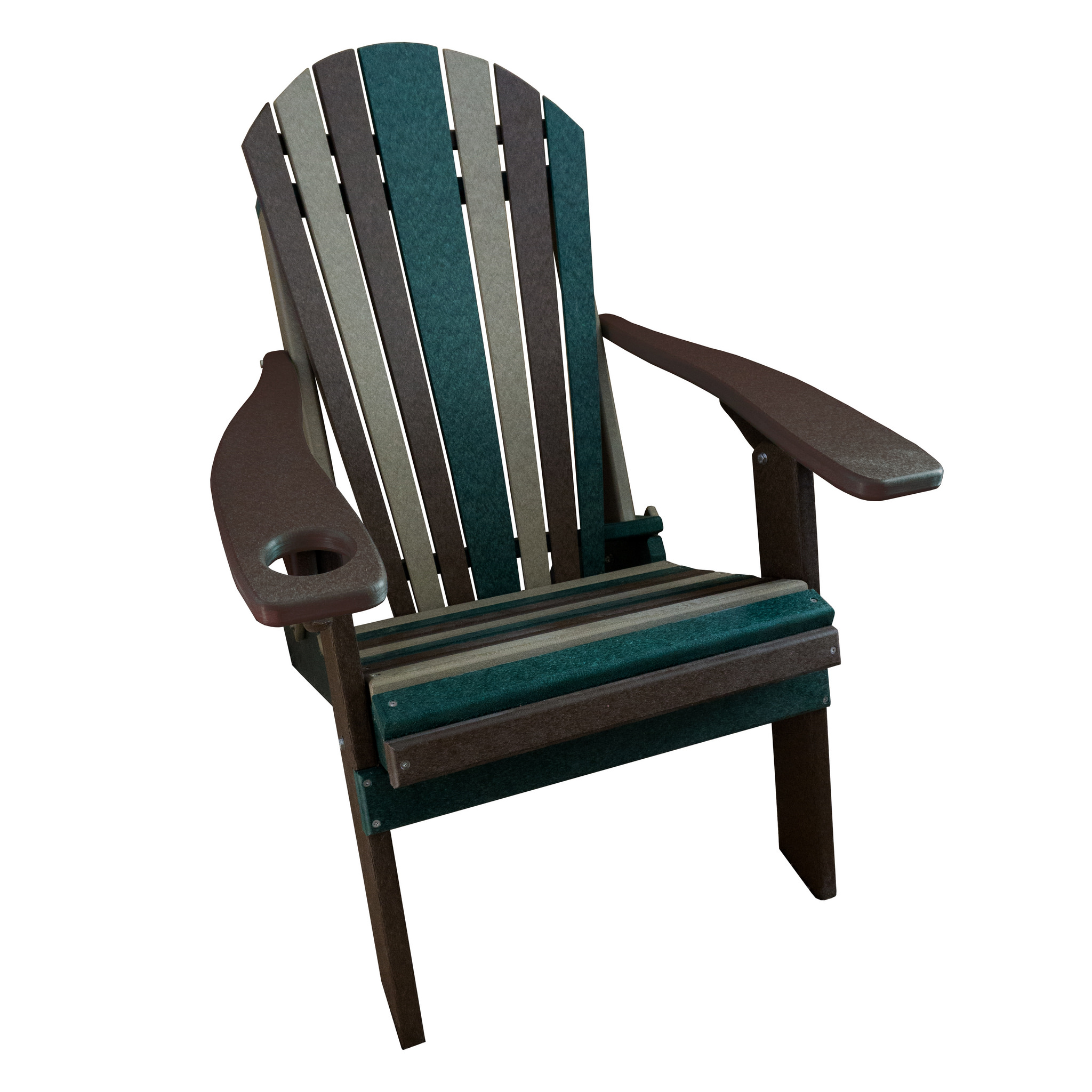 Furniture Barn USA® Camo Style Folding Poly Fanback Adirondack Chair - 1 Cup Holder