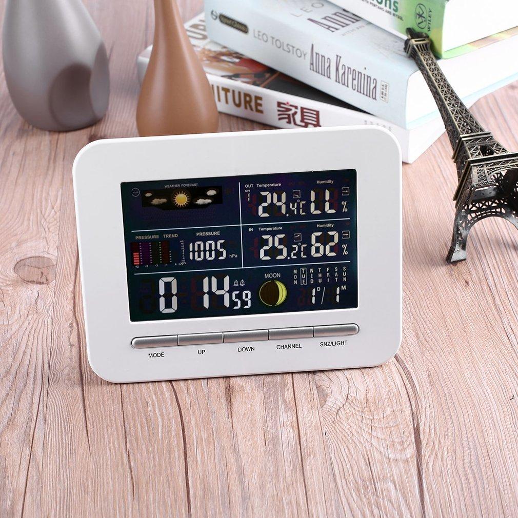 Wireless Digital Forecast Weather Station Clock Remote Se...