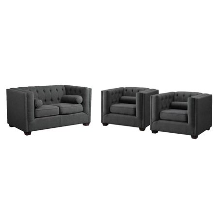 3 Piece Sofa Set with Loveseat and (Set of 2) Club Chair in (Club Chair Seat)