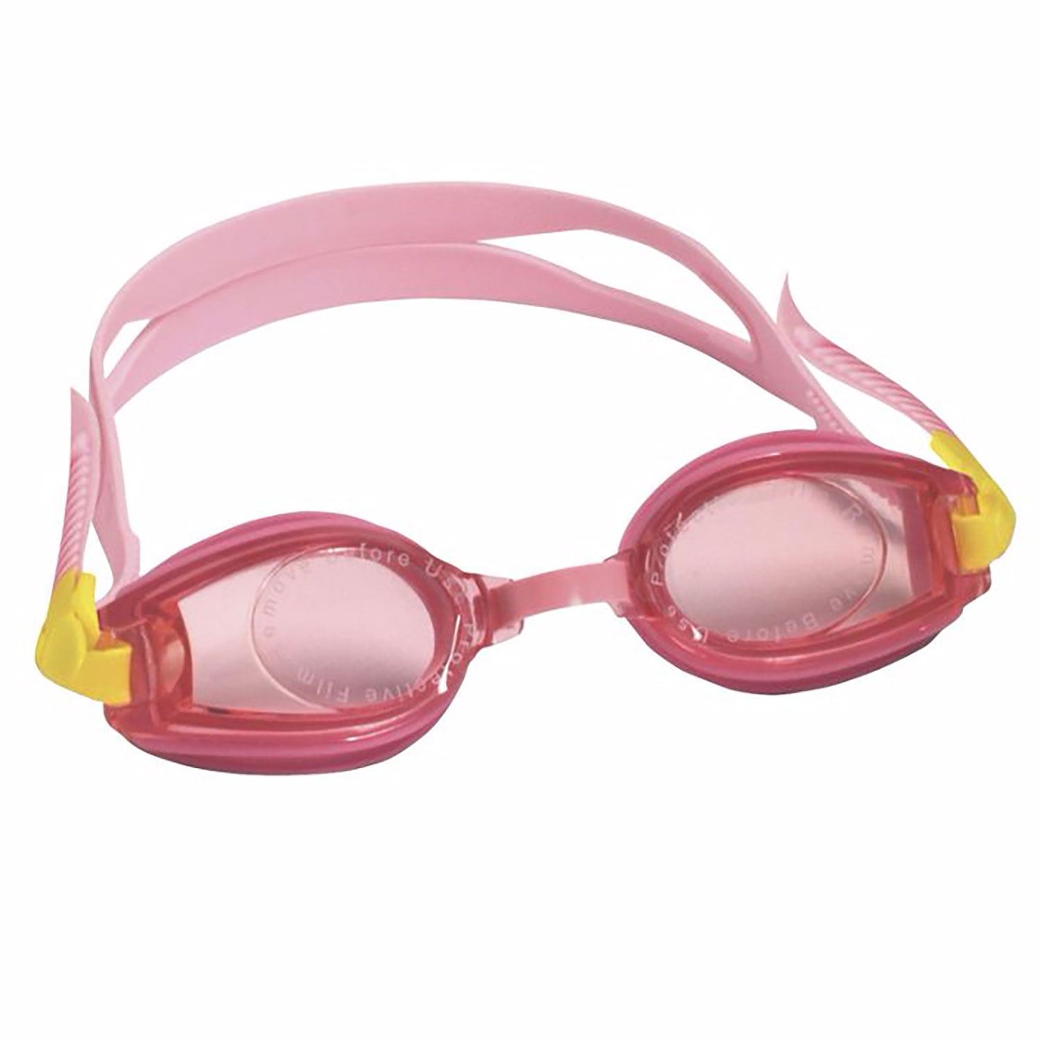 Kids Pink Swim Goggles Anti-Fog, UV Protection Toddler Girls Ages 2-5 by One Step Ahead