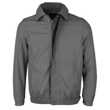 Water Resistant Zip Jacket (Men's Microfiber Golf Sport Water Resistant Zip Up Windbreaker Jacket BENNY (Charcoal /)
