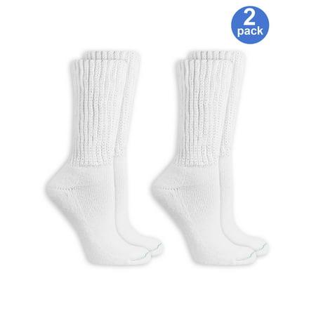 3550db3d93f Dr. Scholl s - Women s Diabetic and Circulatory Wide leg Socks 2 Pack -  Walmart.com