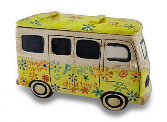 Ceramic 60s Style Hippie Van Cookie Jar by Ohio Wholesale, Inc.