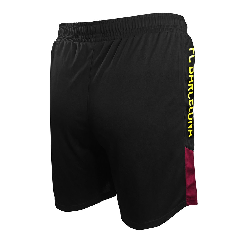 04 Icon Sports Mens FC Barcelona Officially Licensed Poly Soccer Shorts