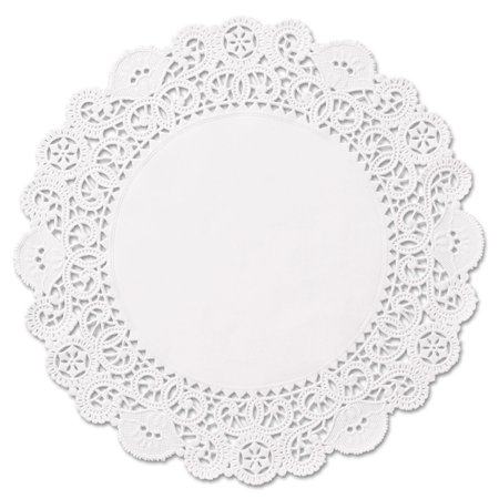 "Hoffmaster Brooklace Round 6"" Lace Doilies, White, 2000 count"