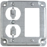 "Thomas & Betts 4"" Square Gfi/Outlet Cover RS19CC"