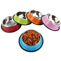 Stainless Steel Outdoor Home Pet Dog Cat Water Food Feeding Bowl  Dish Feede
