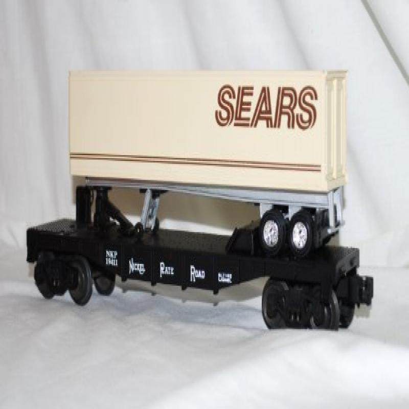 Lionel 6-19411 Nickel Plate Road TOFC Flat car with SEARS...