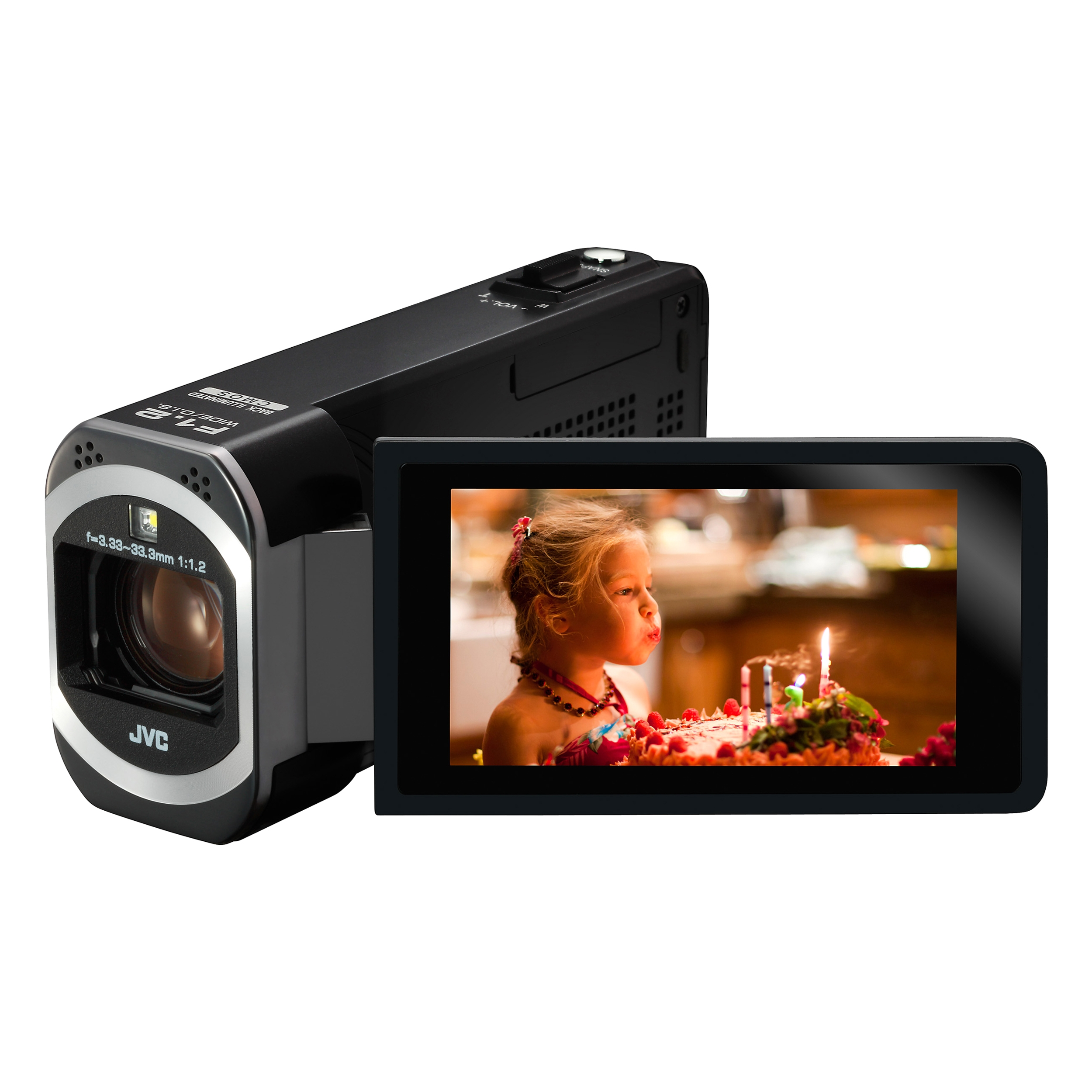 JVC GZ-V500 HD Flash Memory Digital Camcorder w/ 10x Opti...