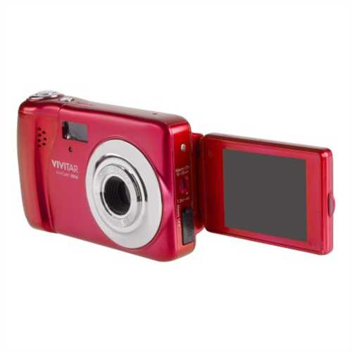 """Vivitar 20.1MP Selfie Camera with 1.8"""" Preview Screen Red"""