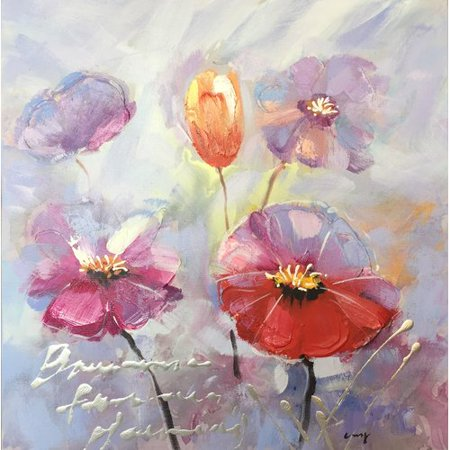 Ebern Designs A Beautiful Day With Flowers Ii Oil Painting Print On Wrapped Canvas