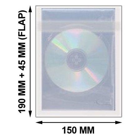 9mm 1000 Rounds (CheckOutStore 1000 OPP Plastic Wrap Bag for Slim DVD Case)