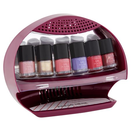 The Color Workshop Salon Nail Station Nail Dryer + Nail Polishes  Collection, 7 piece