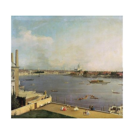 London, Thames and City as Seen from the Richmond House, 1746-1747 Print Wall Art By Canaletto