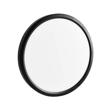 best website 98f8c 4cedd Luxrite 7 Inch LED Flush Mount Ceiling Light, 15W, Black Finish, 4000K  (Cool White), 1000 Lumens, Dimmable, Surface Mount LED Ceiling Light, Wet  ...