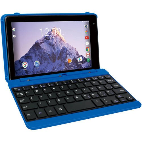 Venturer Electronics Inc RCA Voyager 7 16GB Tablet with Keyboard Case Android 6.0 (Marshmallow) Blue