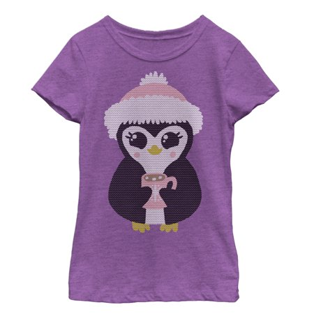 Lost Gods Cozy Cocoa Penguin Girls Graphic T Shirt