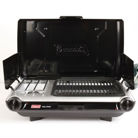 Coleman PerfectFlow 10,000 BTU 2 Burner Grill Camp Stove Match Light (Coleman Road Trip Stove)