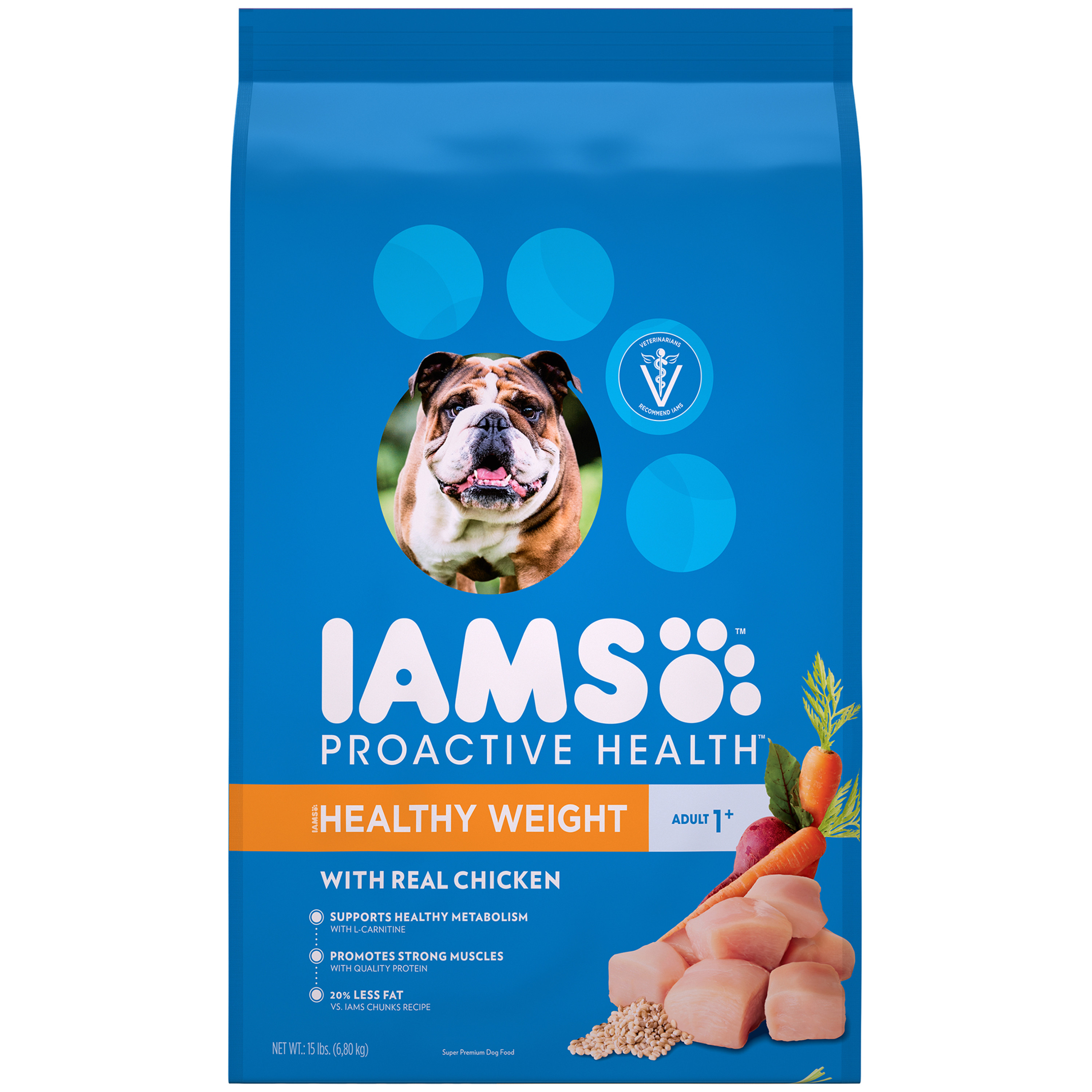 IAMS ProActive Health Healthy Weight Dry Dog Food for All Dogs – Chicken, 15 Pound Bag