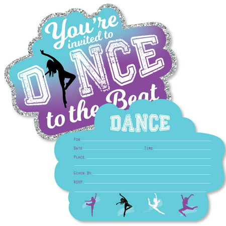 Must Dance to the Beat - Dance - Shaped Fill-In Invitations - Dance Party or Birthday Party Invitation -12 Ct](Halloween Dance Invitation Ideas)