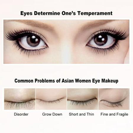 8e147067e49 Yosoo Double-end White+ Black Curling Mascara Waterproof Thick Lengthening  Eyelash Mascara Eye Makeup, ...