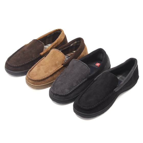 b103477aa Hanes - Hanes Men s Moccasin Slipper House Shoe With Indoor Outdoor ...