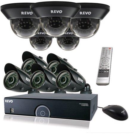 Revo 16 Channel 2Tb 960H Dvr Surveillance System With Ten 700Tvl 100 Night Vision Cameras