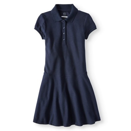 Girls School Uniform Polo Skater Dress (Back To School Clothes For Girls)