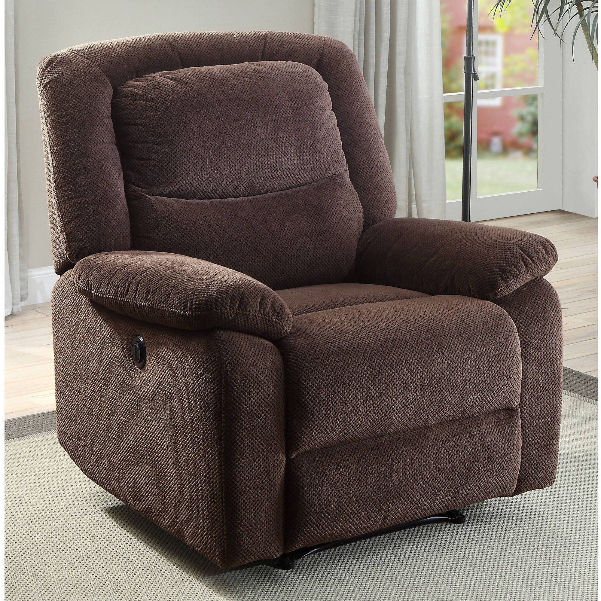 Serta Push-Button Power Recliner with Deep Body Cushions, Ultra Comfortable Reclining Chair, Multiple Colors