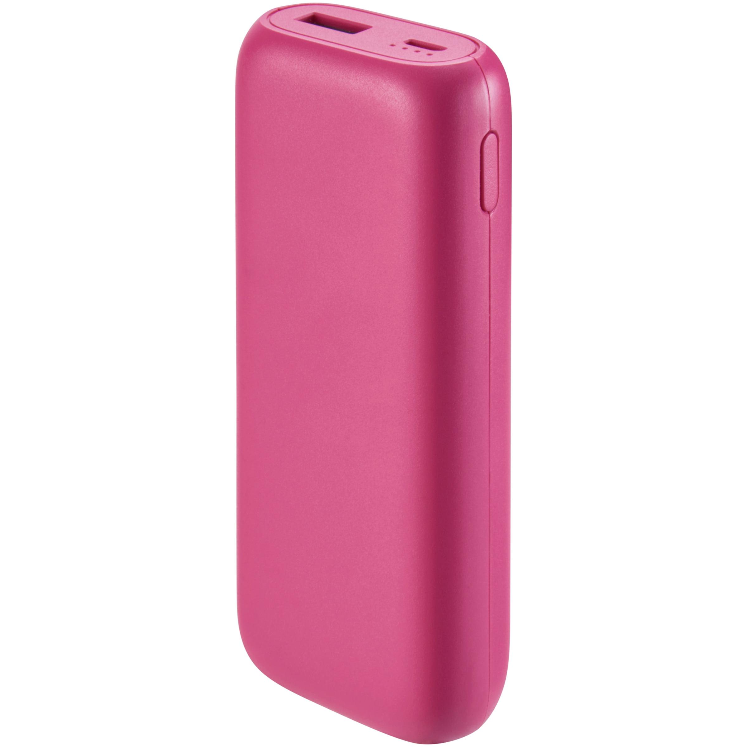 Onn Portable Battery Power Bank, 6700 Mah, Pink