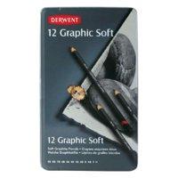 Derwent Graphic Soft Drawing Pencils Sketching Set of 12