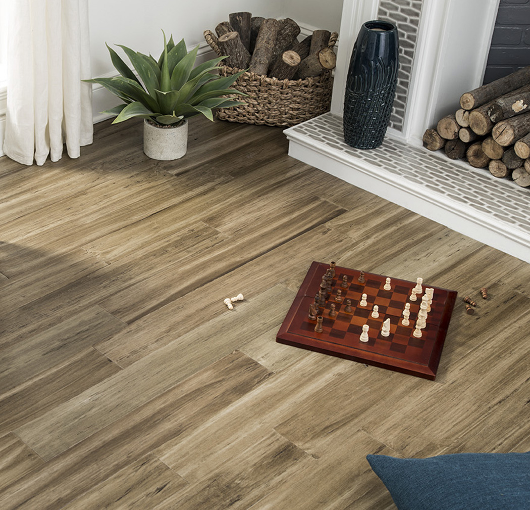 Mojave Dusk 8.5 mm Thickness x 5.12 in. Width x 36.22 in. Length Water Resistant Engineered Bamboo Flooring (10.30 sq. ft. / case)