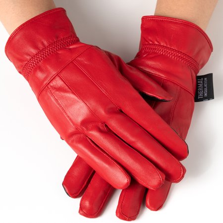 - Alpine Swiss Womens Touch Screen Gloves Leather Phone Texting Glove Thermal Warm