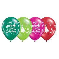 "Qualatex Have a Holly Jolly Christmas Holiday 11"" Latex Balloons, 6 CT"