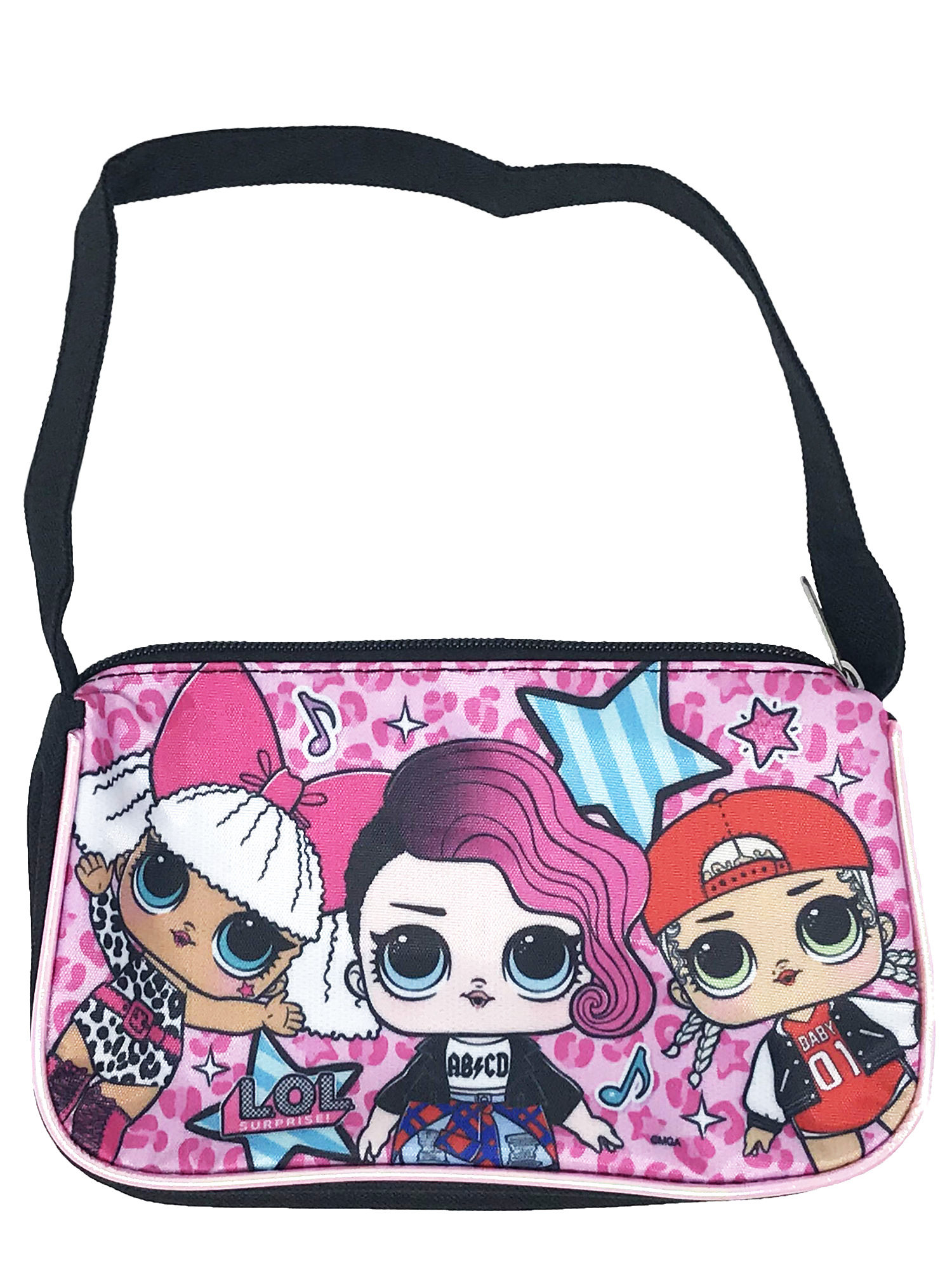 Girls LOL Surprise! Glee Club Shoulder Bag Purse Black Diva Rocker M.C. Swag