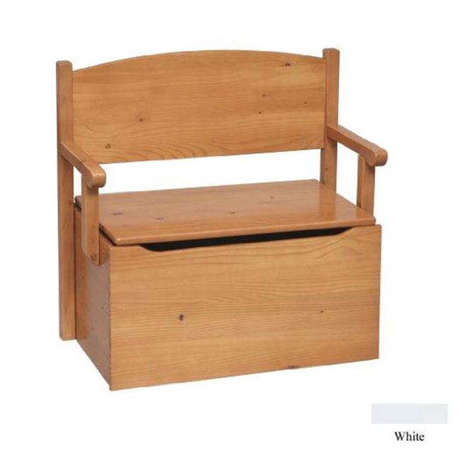 Little Colorado 017SWNC Bench Toy Box - Solid White-No Cutout
