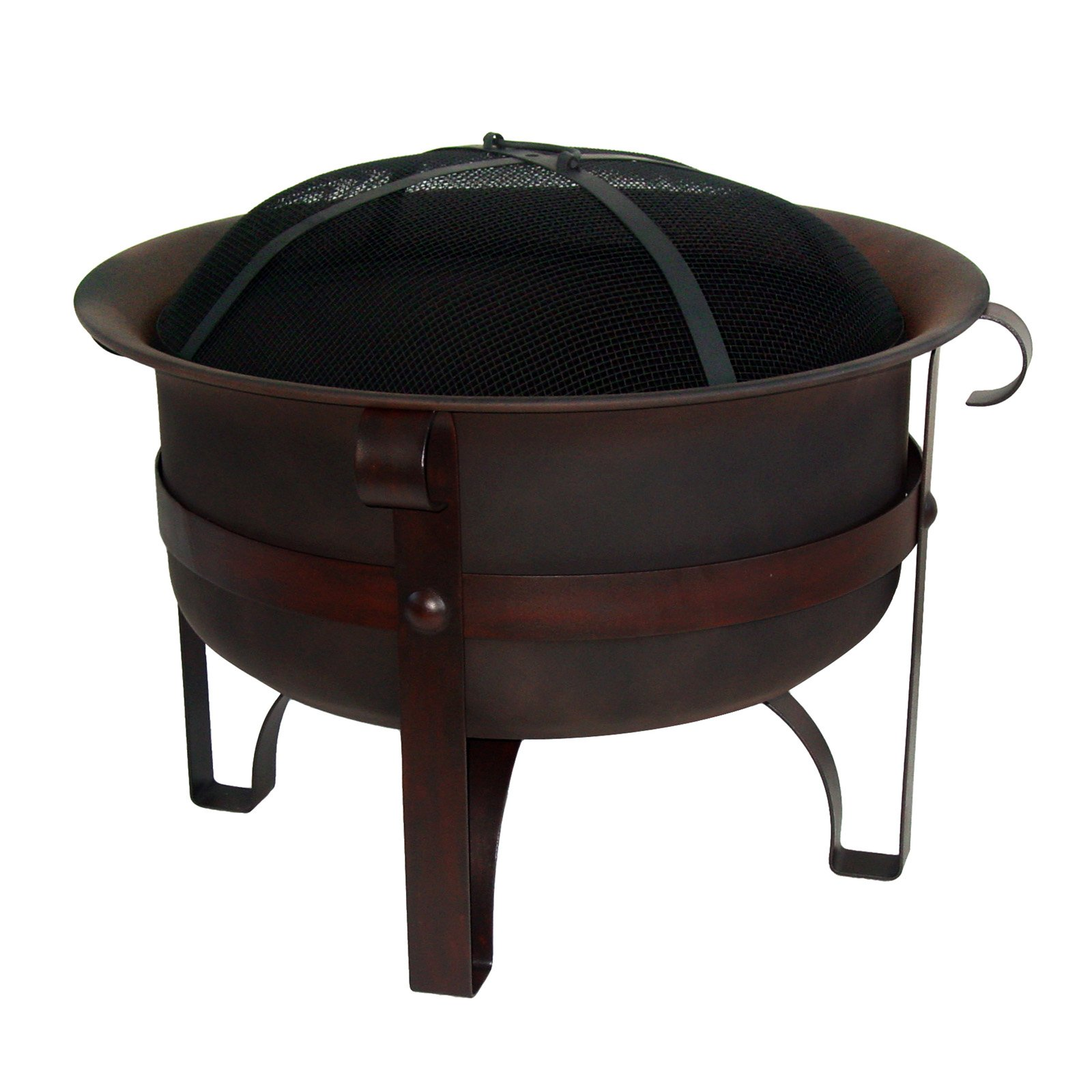 Red Ember Brockton Steel Cauldron Firepit with FREE Cover by Asia Direct