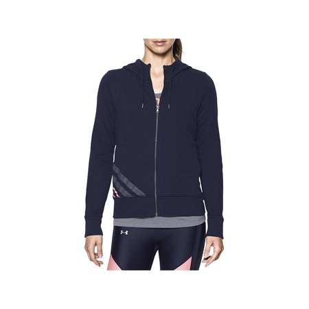 Under Armour Womens French Terry Striped Zip-Up Hoodie ()