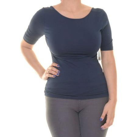 Capri Blouse - American Living Capri Navy Top Blouse Short Sleeve Size XS NWT - Movaz