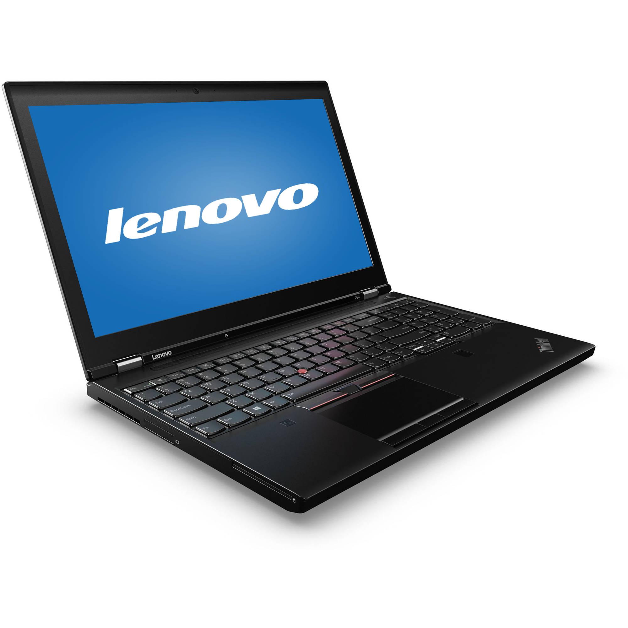 "lenovo black 15.6"" thinkpad p50 20en0013us laptop pc with"