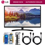 "LG 32"" Screen LED-lit Monitor (32MP58HQ-P) with Xtreme Performance TV/LCD Screen Cleaning Kit, Xtreme 6 Outlet Power Strip & 2x General Brand HDMI to HDMI Cable 6'"