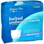 Sunmark Entrust Belted Undergarments One Size - 4 pks of 30 ct