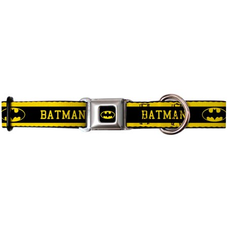 batman dc comics superhero name & shield seatbelt fun animal pet dog cat collar