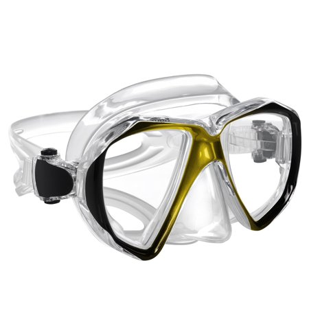 - Snorkel Mask - Mask Snorkel - Double Lens diving mask Perfect for Scuba Diving, Snorkeling, Swimming - Ivation