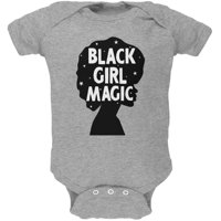 Black History Month Black Girl Magic Afro Soft Baby One Piece Heather 3-6 M