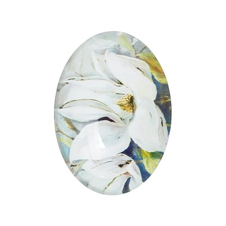 Sexy Sparkles 4 Pcs Oval Flatback Glass Dome Cabochon Embellishment 25mm(1